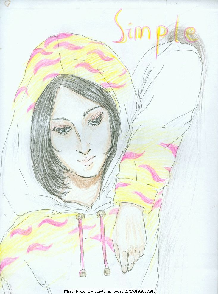 手绘运动 女人 彩绘 动漫 绘画书法 文化艺术 设计 300dpi jpg