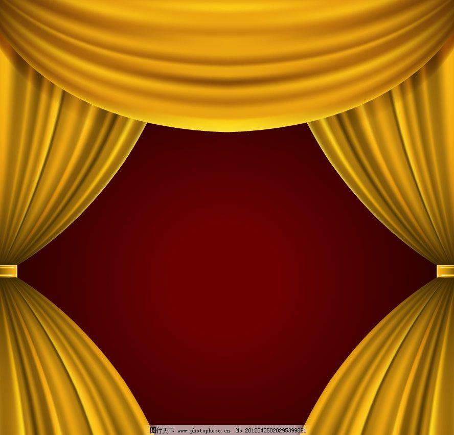开幕-红幕背景图