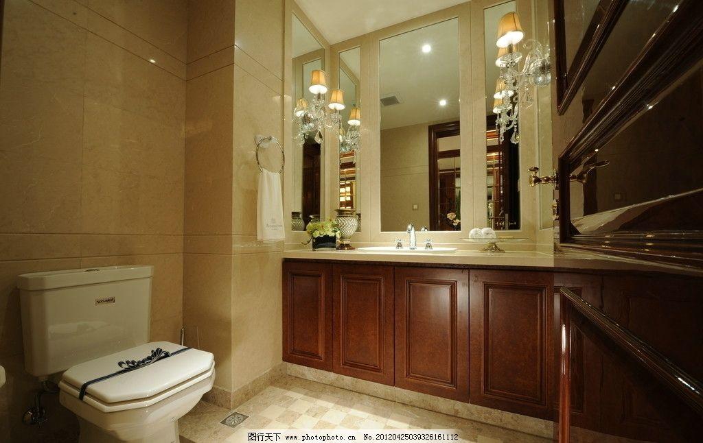 精装样板房卫生间图片