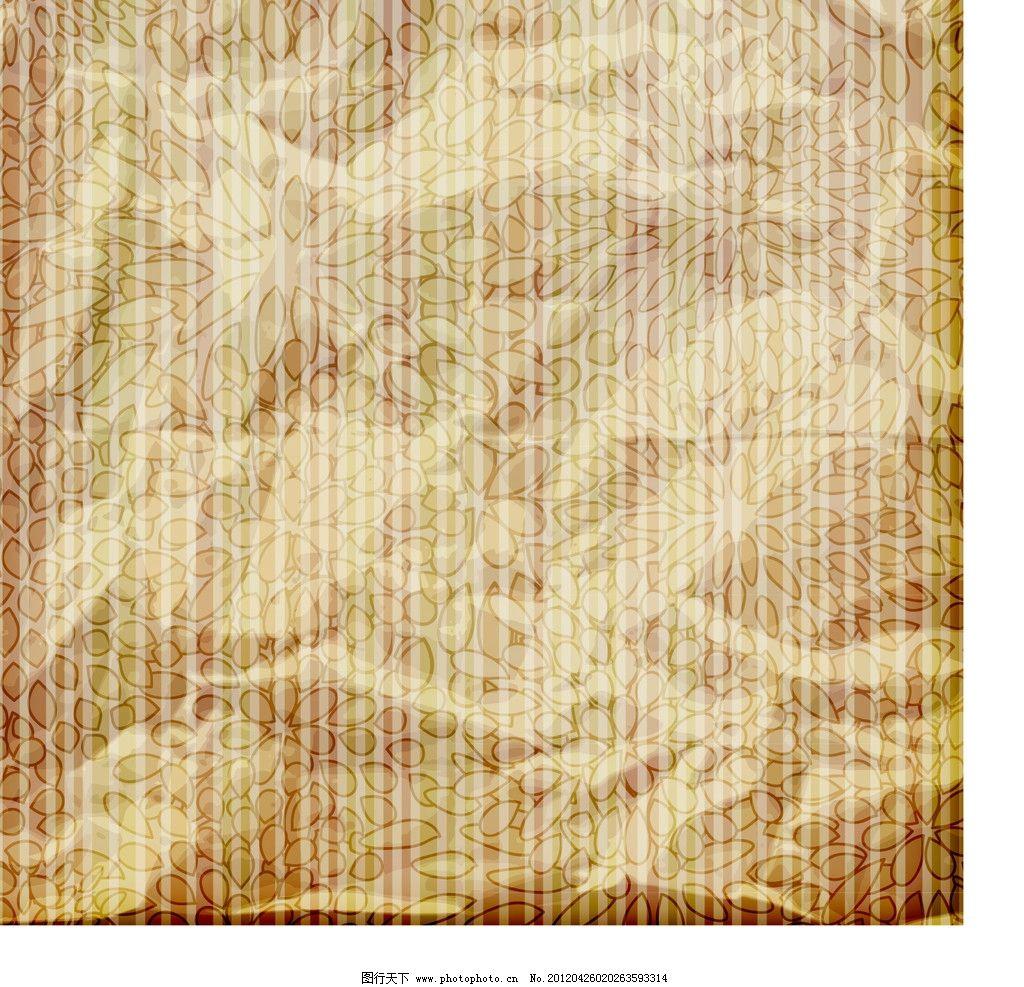 牛皮纸 花纹 纸 纸张 信纸 褶皱 纹 花边 边框 豪华 华丽 纹样 纹理