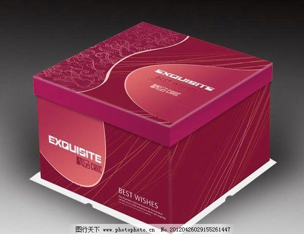 蛋糕盒(展开图)图片