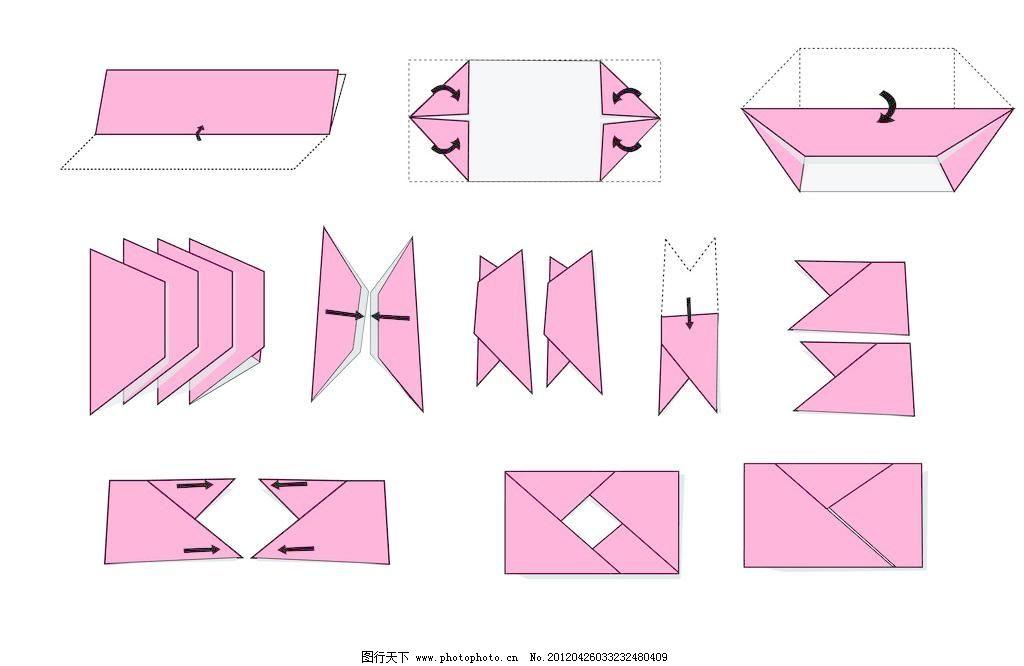 折纸照相机 折纸照相机图片免费下载 步骤图 其他矢量 矢量素材