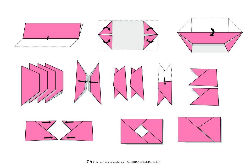 折纸照相机 步骤图 折纸相机 矢量素材 其他矢量 矢量 ai