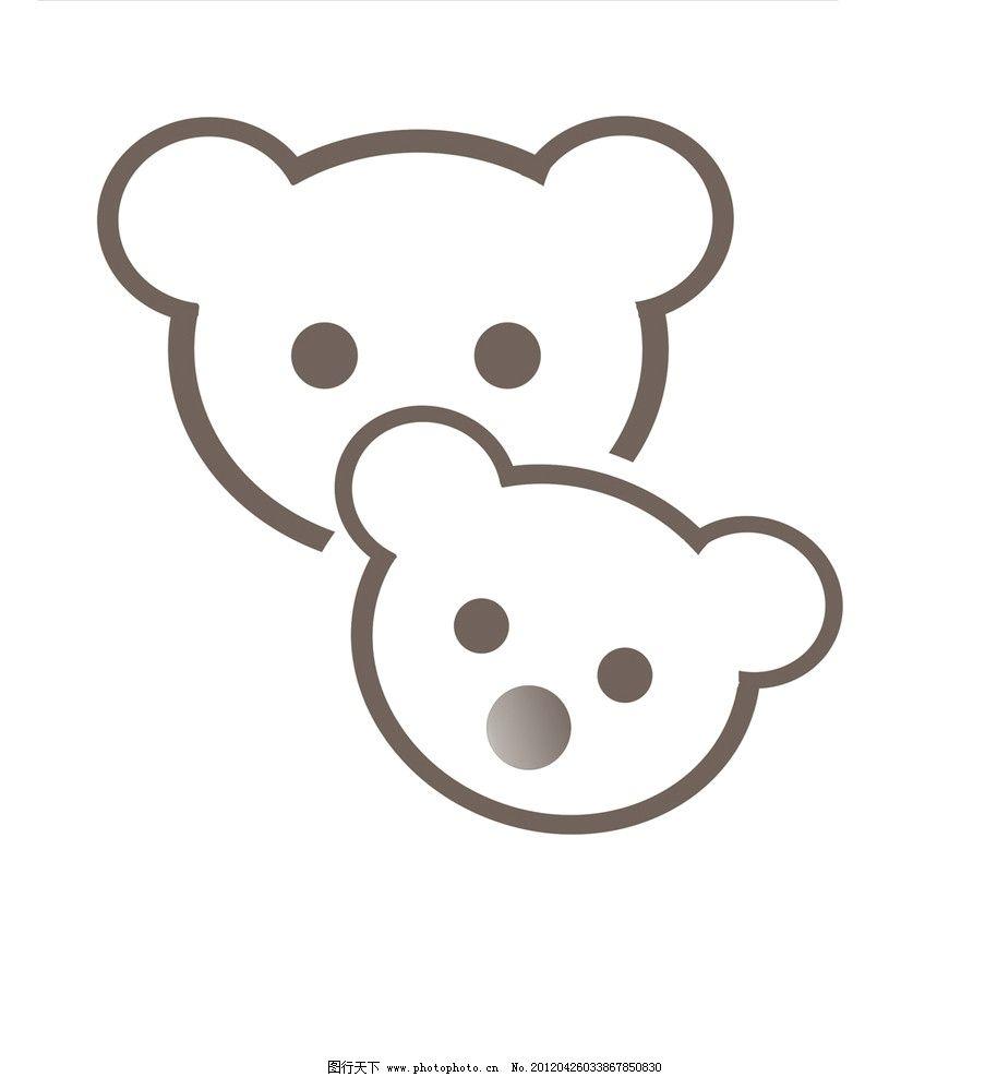可爱小熊亲子装烫画图案图片