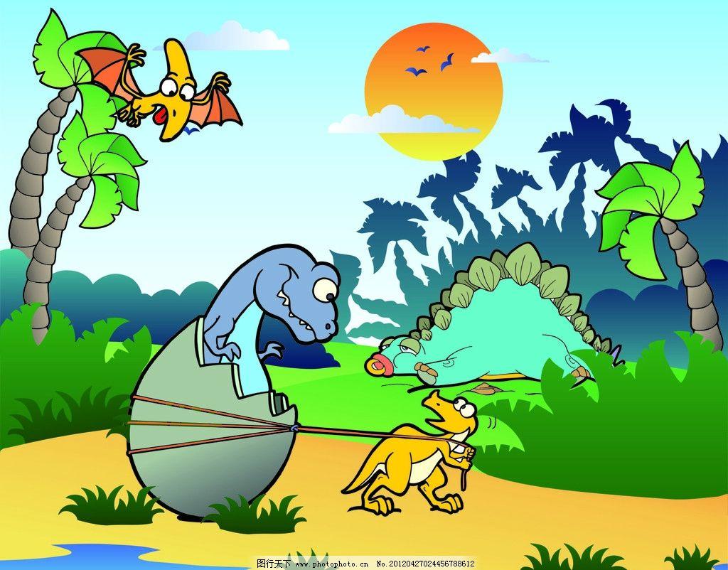 幼儿园恐龙主题墙饰边框设计