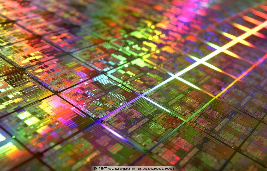 炫彩电路板图片