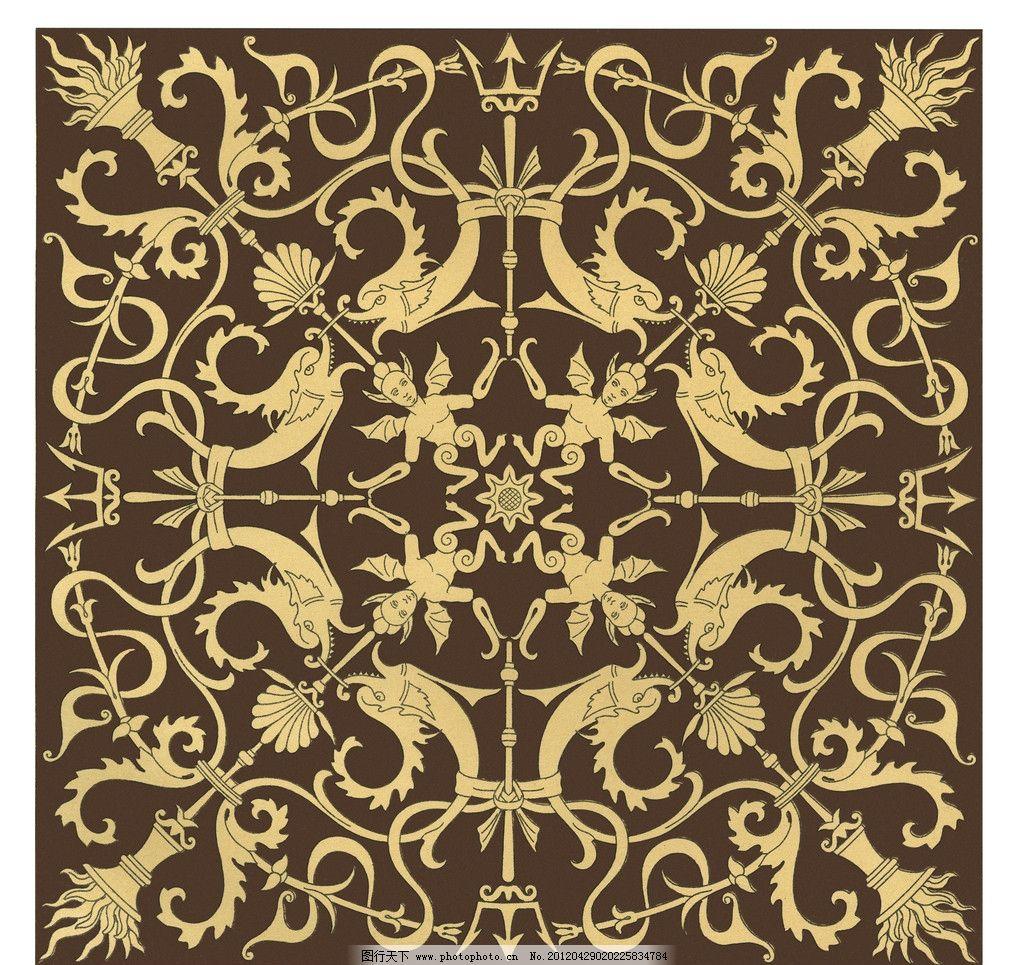 宗教花纹 教会花纹 地中海花纹 古典花纹 背景底纹 底纹边框 设计 300
