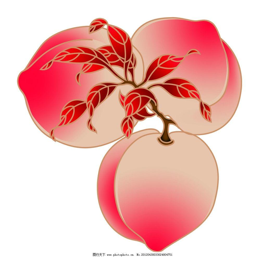 桃子手绘图片