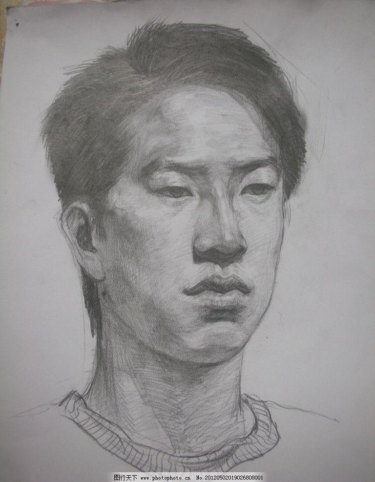 素描头像 素描      男人 绘画 绘画书法 文化艺术 设计 300dpi jpg