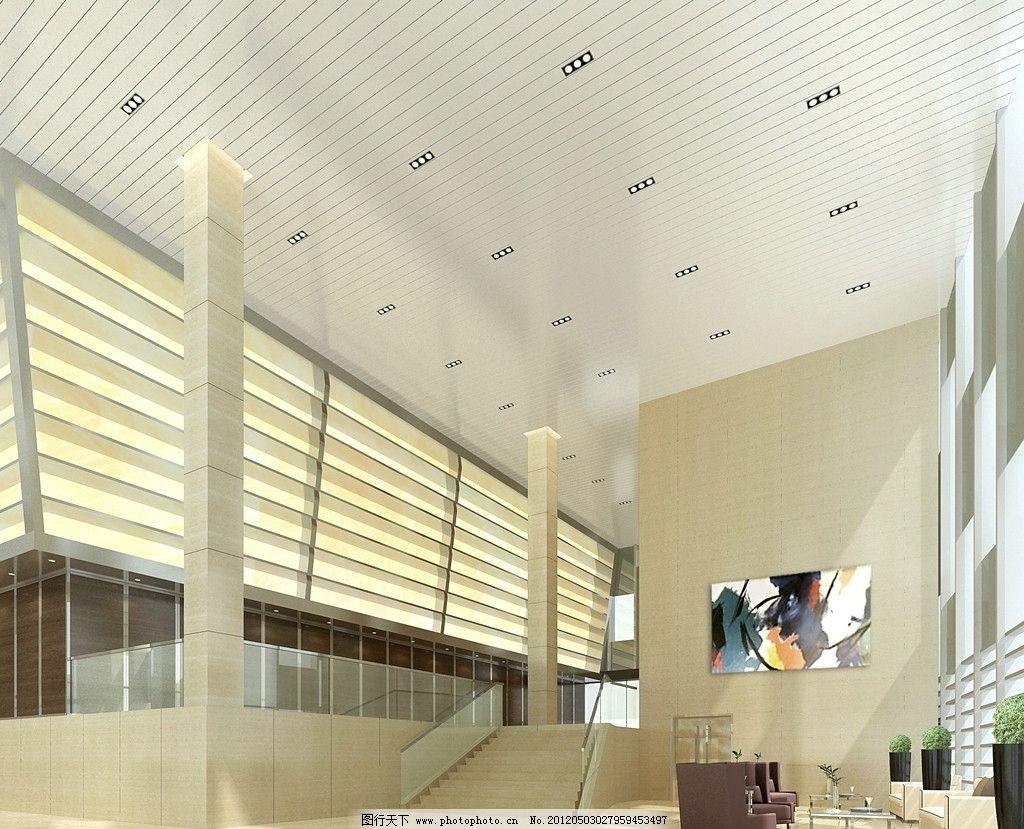 办公大厅效果图 门厅效果图 门厅 办公效果图 办公空间 工艺品 装饰品