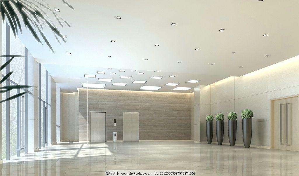 设计图库 环境设计 室内设计  门厅效果图 门厅 办公效果图 办公空间