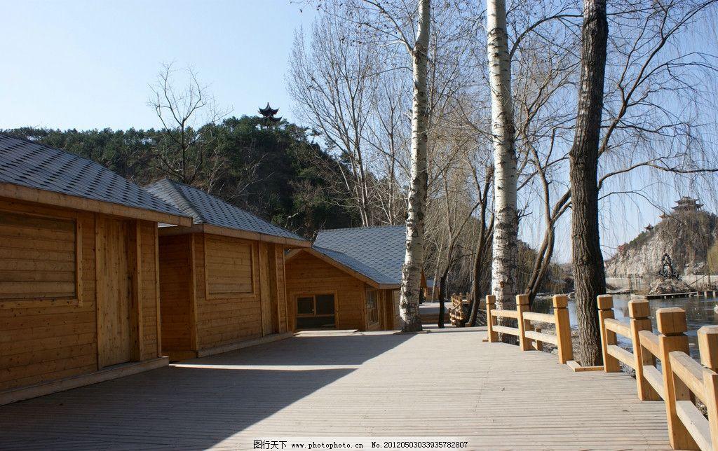 木屋 木栈道      旅游 景区 景点 景观 观光 大树 休闲 摄影 国内