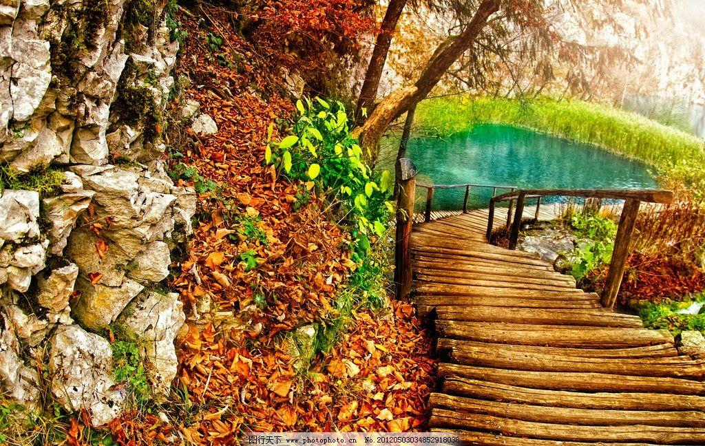 山水风景 山水 风景 旅游 摄影 树木 绿色 蓝天 白云 大自然 小桥