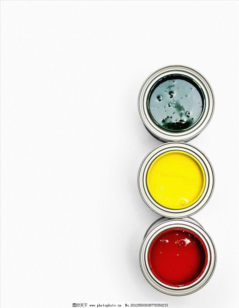 品种 清新 容器 设计艺术 油漆桶 装潢 画笔 美术绘画 文化艺术 摄影