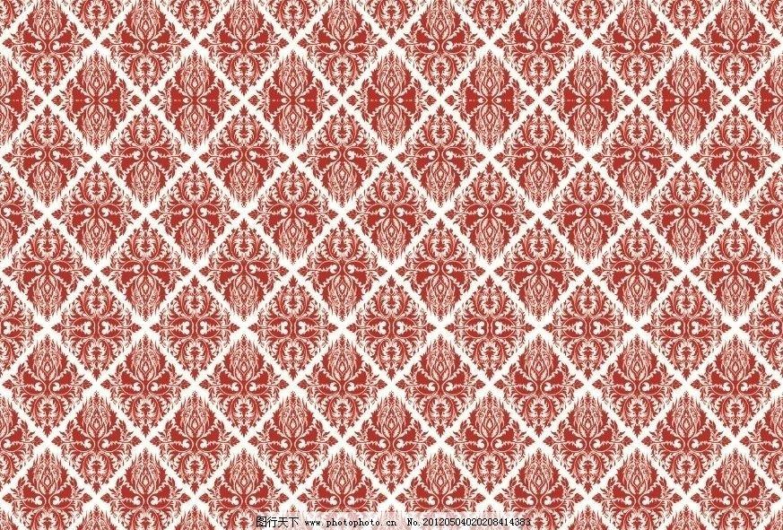 底纹 欧式底纹 欧式花纹 叶子 连续纹样 墙纸 窗花 包装设计