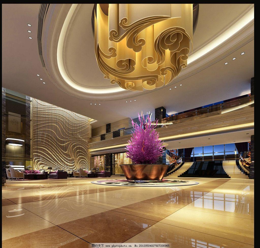 大堂 大堂效果图 大堂设计 前台 前天椅 豪华 大气 玻璃门 室内设计