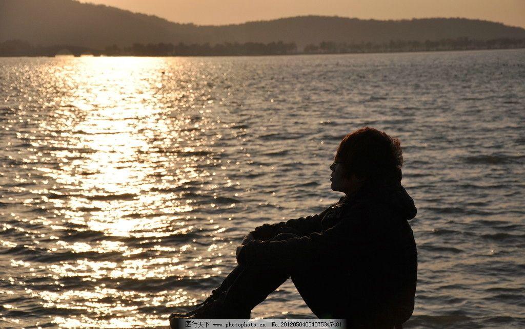无锡渔夫岛夕阳图片