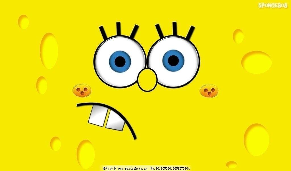 海绵宝宝壁纸背景 可爱 动画片 卡通 儿童 黄色 动漫动画