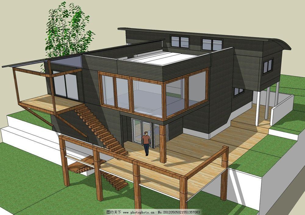 欧式小型别墅 建筑 模型 草图大师 创意艺术 欣赏 城市设计 建筑模型
