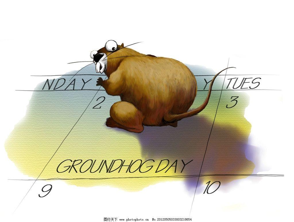 手绘胖老鼠 老鼠 胖 日历 卡通手绘 贼眉鼠眼 psd分层素材 源文件 300