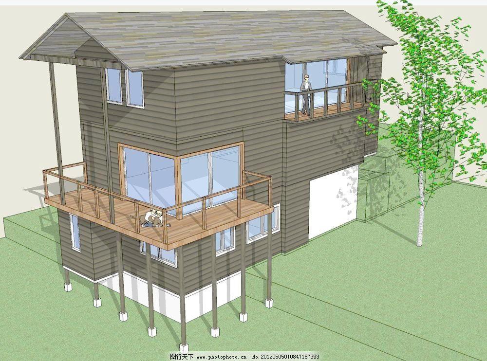 欧式小型别墅 欧式 小型 别墅 skp 建筑 模型 su 草图大师 创意艺术