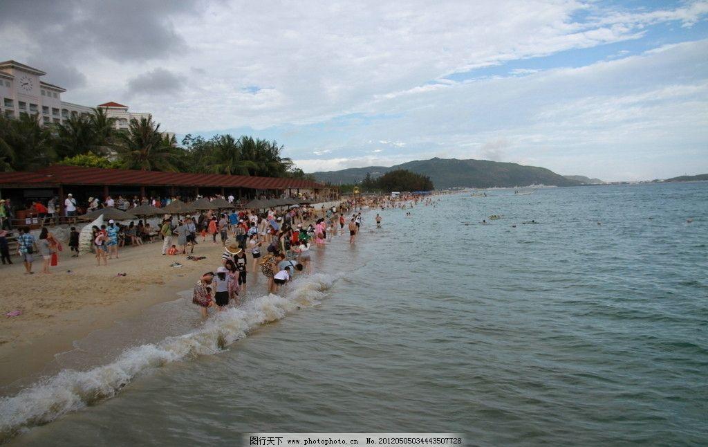 海滩 椰树 浪花 美丽风景 风光图片 海岸风光 海南岛 海南 山水风景