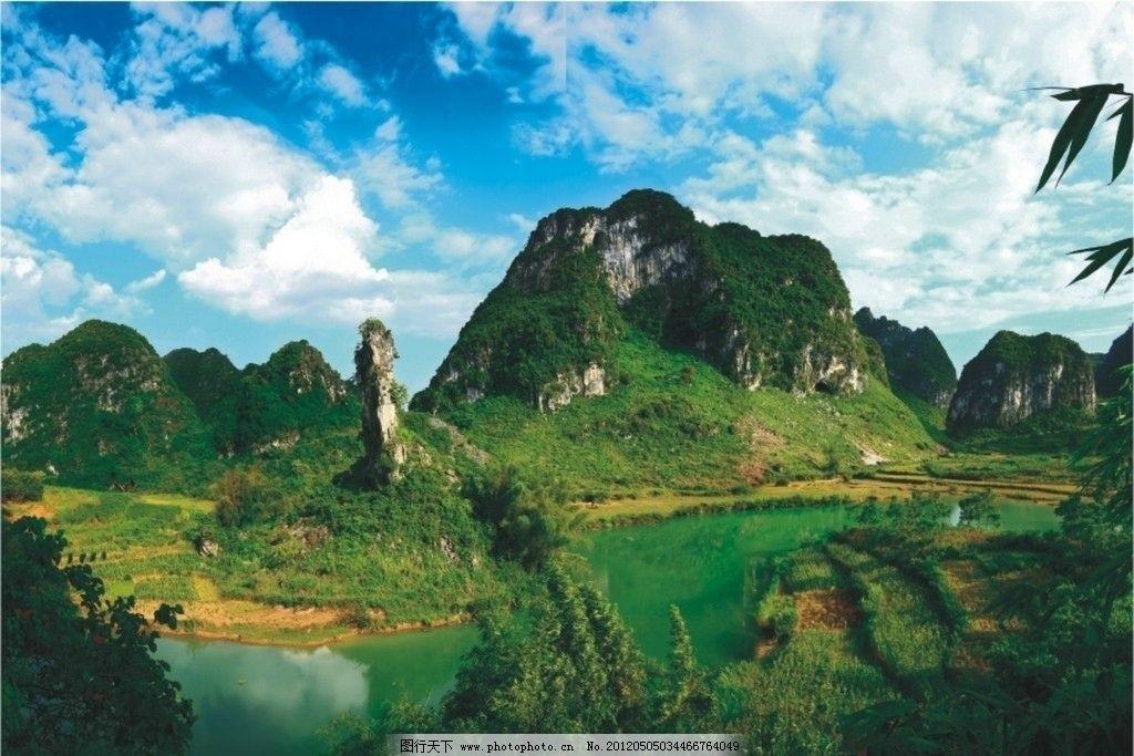 山水风景 湖泊 小河 河水 湖水 蓝天 植物 树木 自然风景 大自然 300d