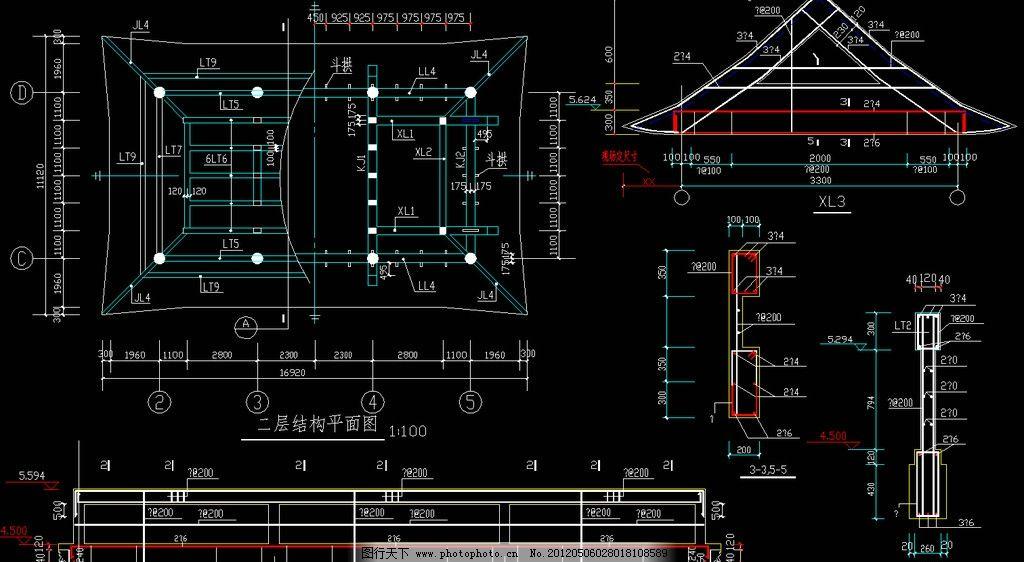 黄帝庙 二层结构平面图图片
