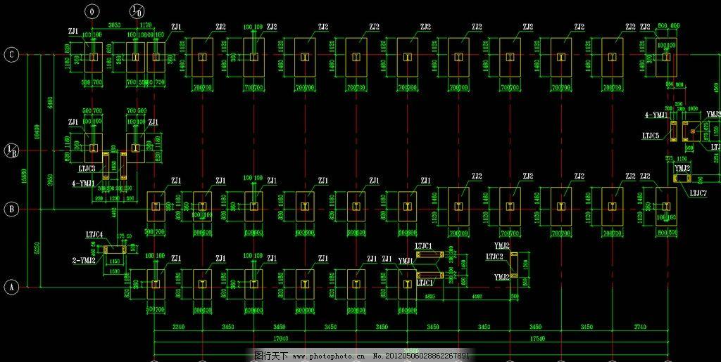 钢结构厂房 基础平面布置图片