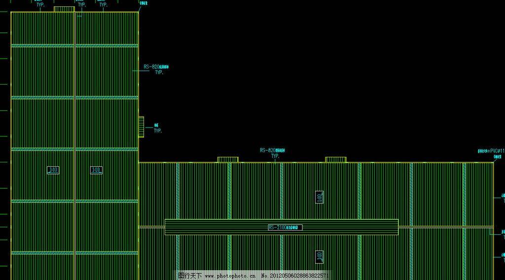 钢结构厂房 屋顶平面布置图片_施工图纸_环境设计_图