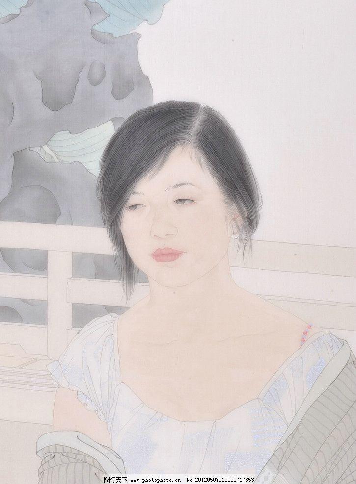 国画 中国画 人物国画 写意画 彩墨人物画 大师作品 人物画 美女 女人