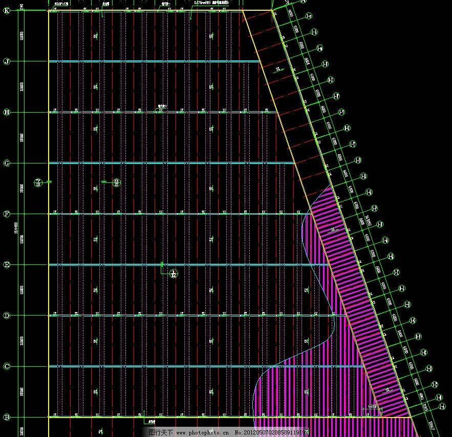 钢结构工程 屋面布置图 cad 施工图 钢结构 网架 桁架 节点 轻钢 钢构
