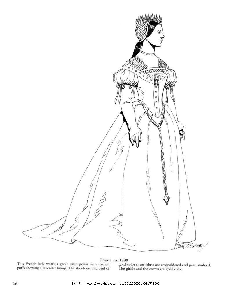 设计图库 文化艺术 绘画书法  衣服 手绘稿 西方服饰 线稿 高清图片