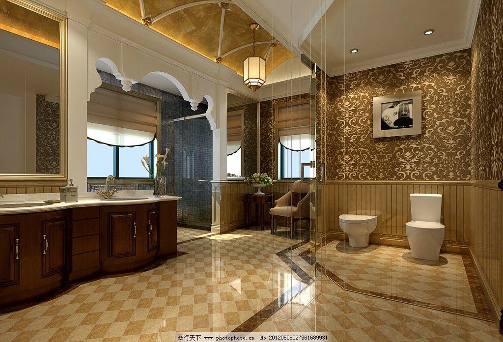 别墅洗手间 别墅        奢华 贵族 欧式 室内设计 环境设计 设计 300