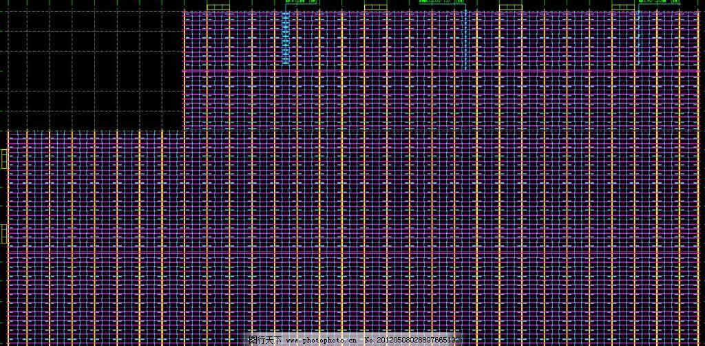 钢结构厂房 屋面檩条布置图片