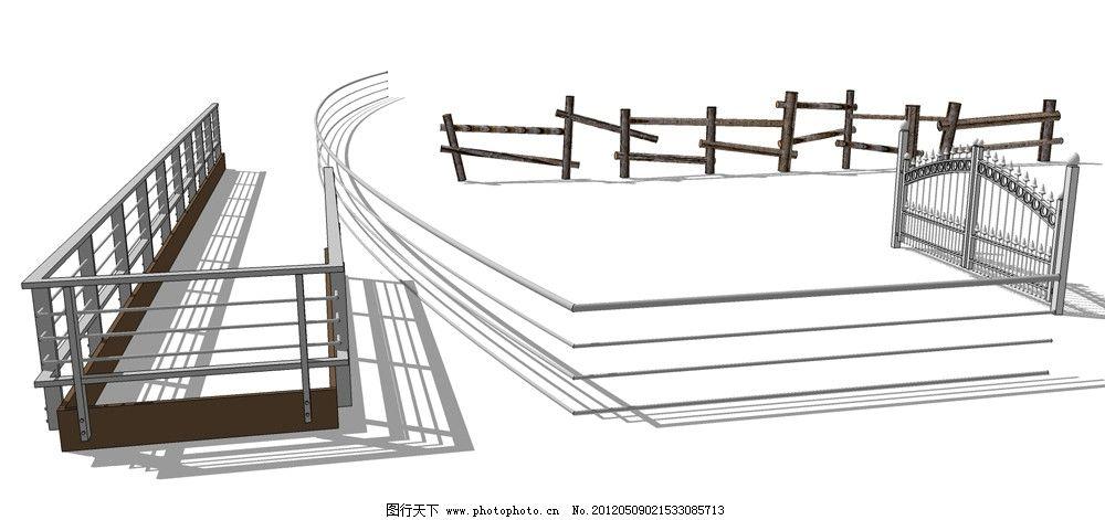 sketchup栏杆      铁 网 设计 创意艺术 欣赏 google sketchup 3d