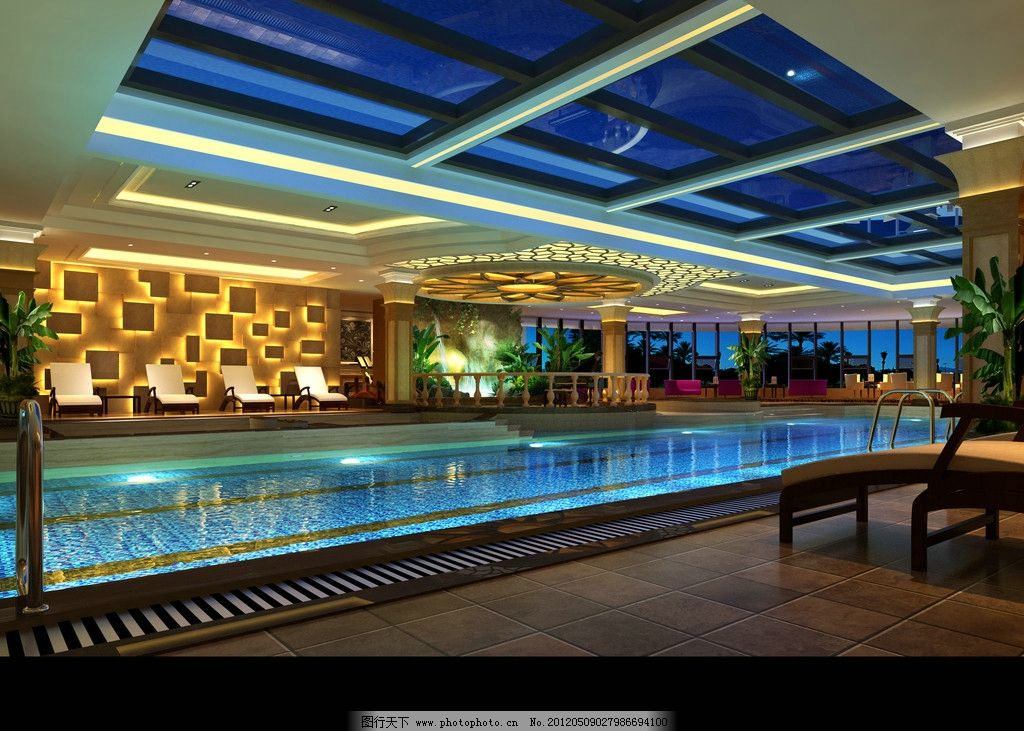 游泳馆 水池 会所设计 豪华酒店 酒店游泳池 家居设计 室内设计 室内