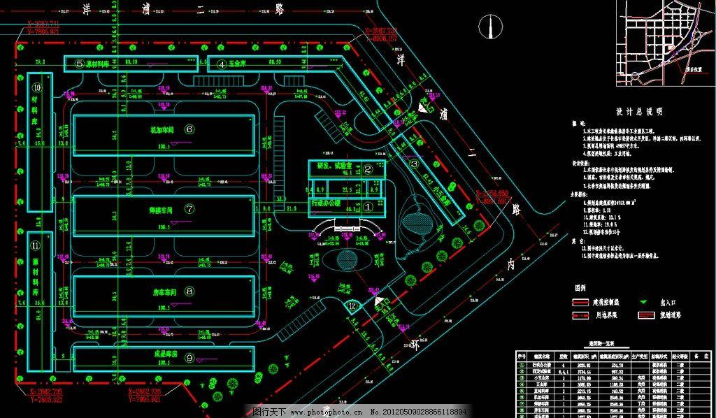 钢结构厂房 总平面图图片