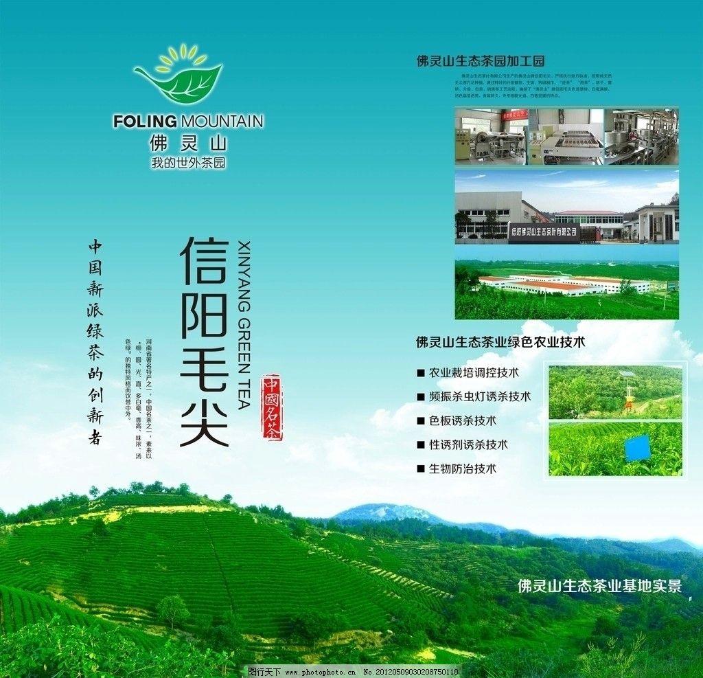 茶叶农业企业展板图片