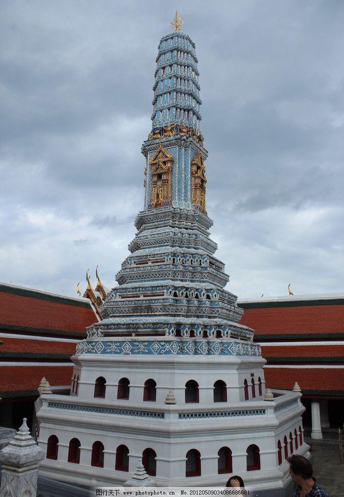 泰国宝塔 白色宝塔 舍利子塔