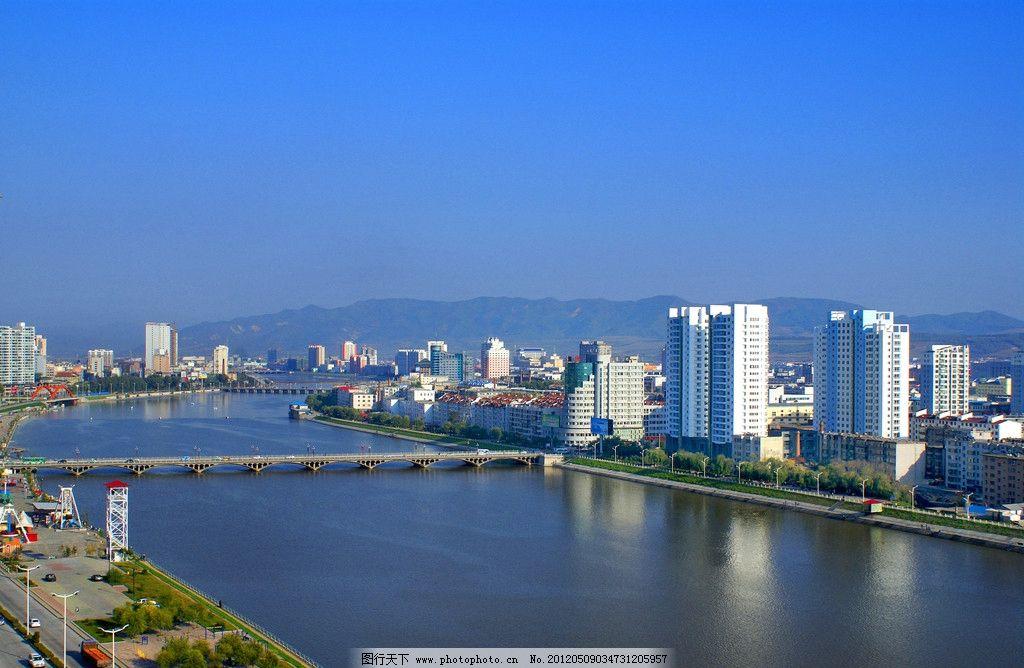 延吉全景 吉林 延吉 延边 延吉市 全景 河南桥 建筑景观 自然景观