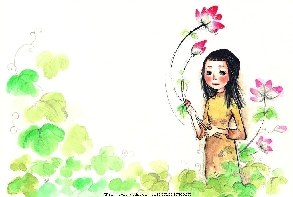 女孩 水粉画 插画 梦想 生活 彩粉画 蜡笔画 彩铅画 儿童画 卡通画