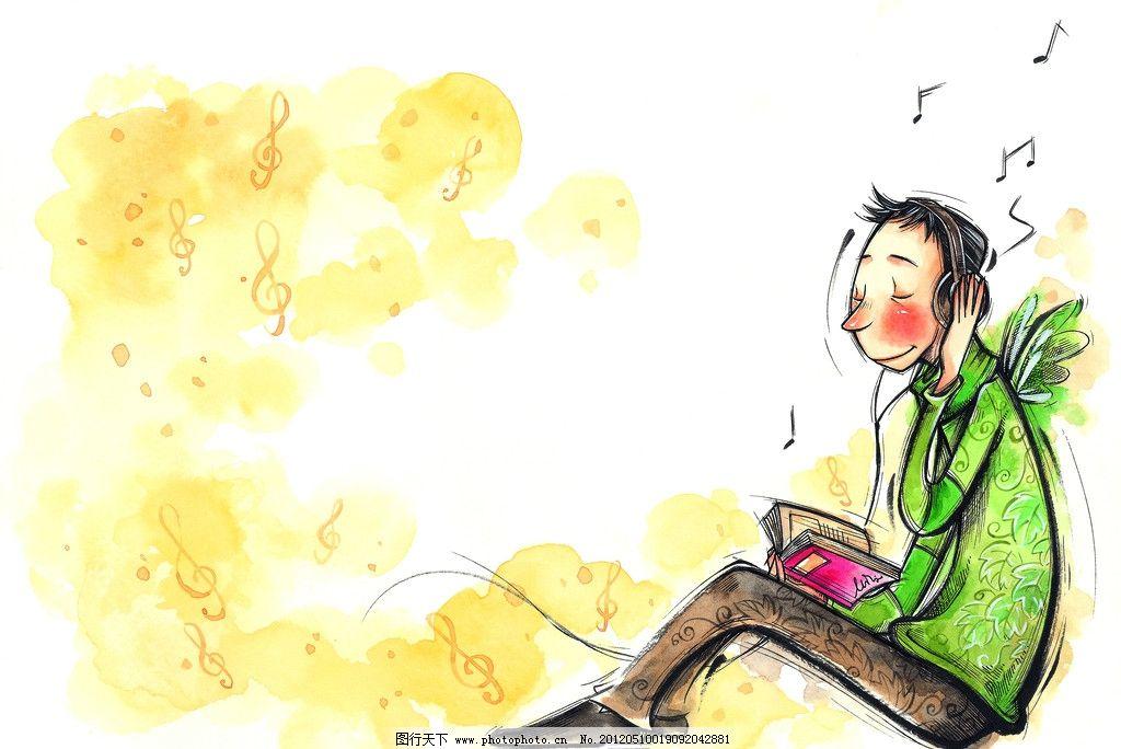 男孩 水粉画 插画 梦想 生活 彩粉画 蜡笔画 彩铅画 儿童画 卡通画 植
