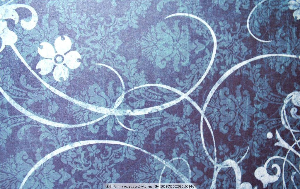 古典花纹背景图片 复古布纹