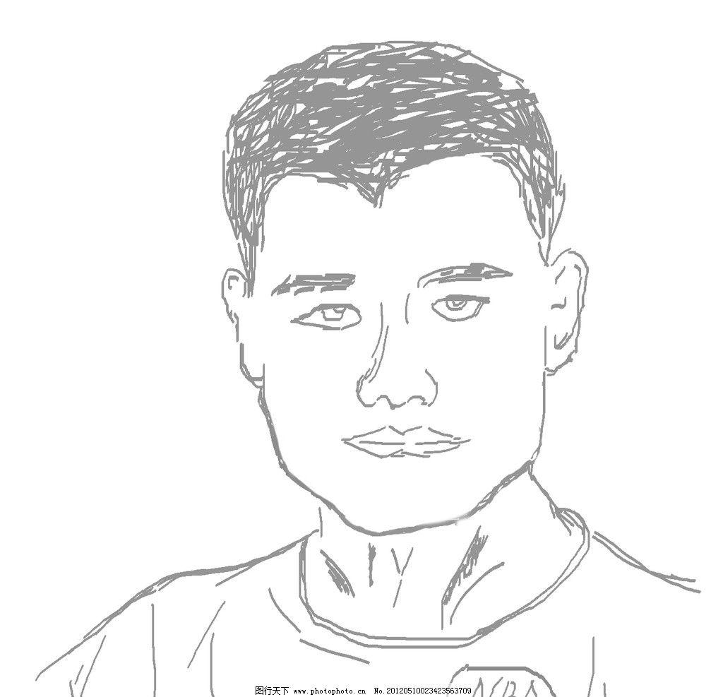 姚明肖像 姚明 素描 肖像 线稿 漫画 人物写真 人物图库 设计 72dpi