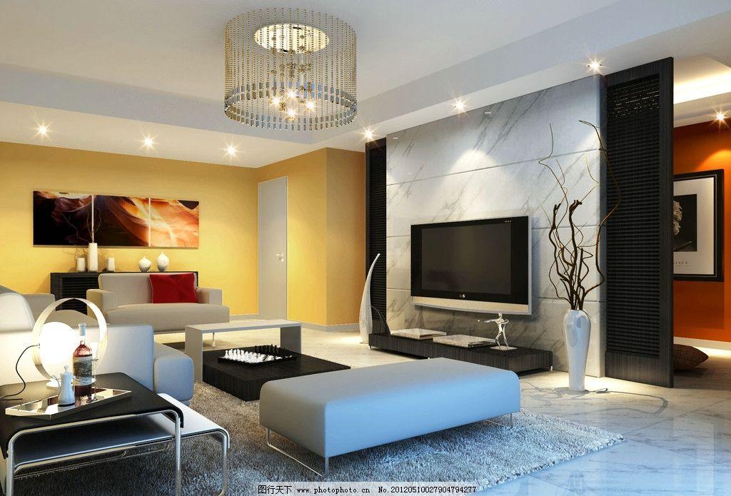 室内设计 灯光 客厅图片
