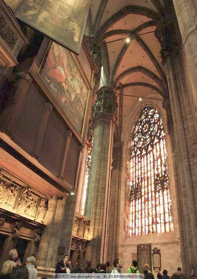 欧式建筑内景 建筑园林 教堂 摄影 室内摄影 意大利 欧式建筑内景图片