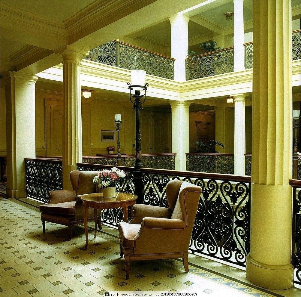 室内设计实景照片素材 室内 设计 欧式 过厅 沙发 实景 照片 素材