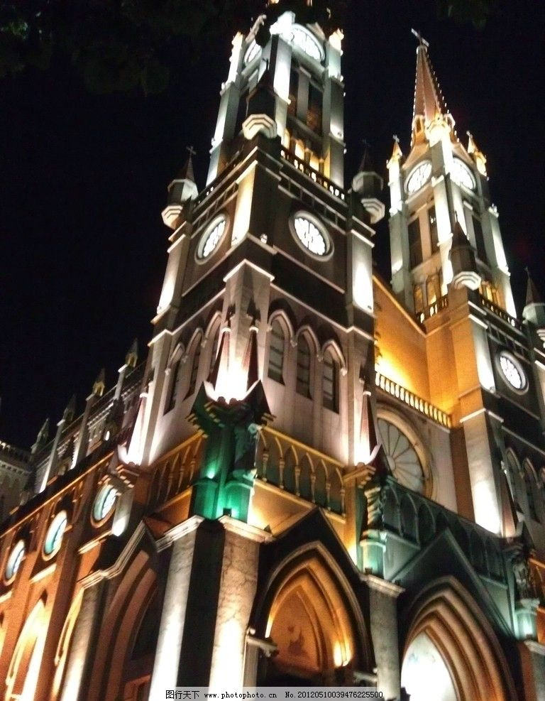 宁波天一教堂 宁波 天一广场 教堂 夜景 建筑 建筑摄影 建筑园林 摄影