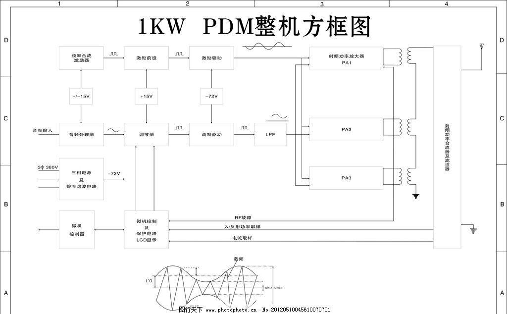 pdm整机方框结构图图片_英文字体_字体_图行天下图库